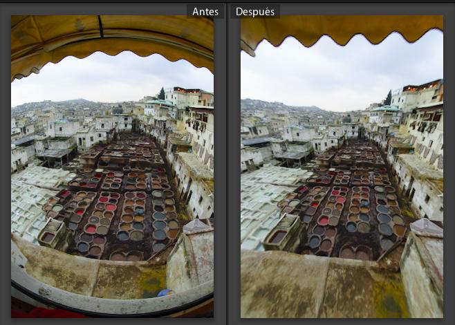 Ajuste automatico deuna imagen obtenida con un objetivo Nikon 10,5 mm. (Foto: Juanma Orta)