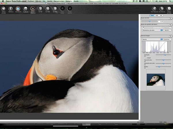 Canon DPP es el software de revelado RAW incluido en las cámaras de Canon.