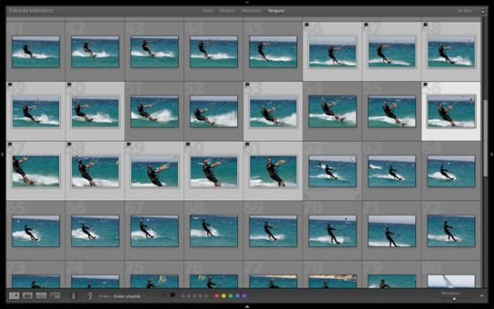 Ahora las fotos selecciondas se marcan como descartadas (tecla X) y listas para borrar.